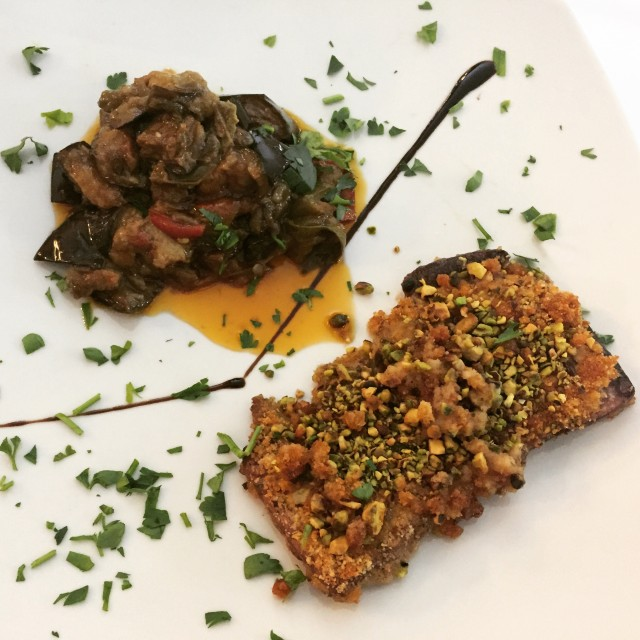 Thunfisch mit einer Pistazienkruste